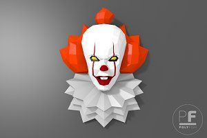 DIY Pennywise 2017 3D model template