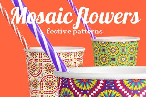 Mosaic flowers—Festive patterns