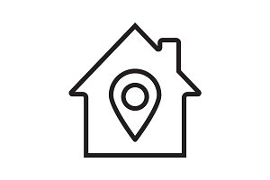 Home location linear icon