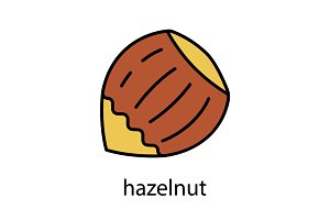 Hazelnut color icon