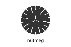 Nutmeg glyph icon