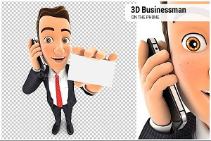 3D Businessman on the Phone