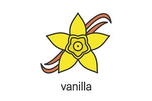 Vanilla flower color icon