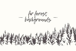 Winter fir forest backgrounds