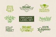 Set organic logo and label
