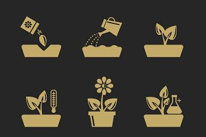 Planting and seeding ground signs