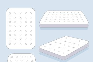 White mattress vector illustration