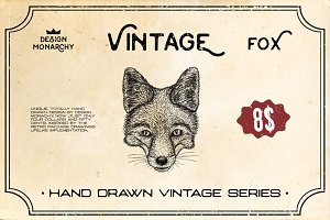 FOX HEAD HAND DRAWN