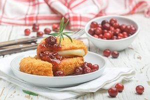 Camembert and cranberry