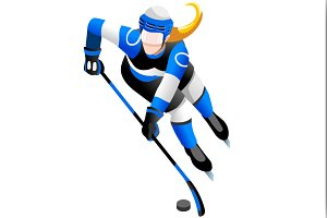 Winter Sports Female Ice Hockey