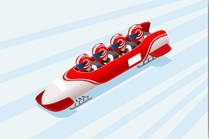 Winter Sports Vector Bobsleigh