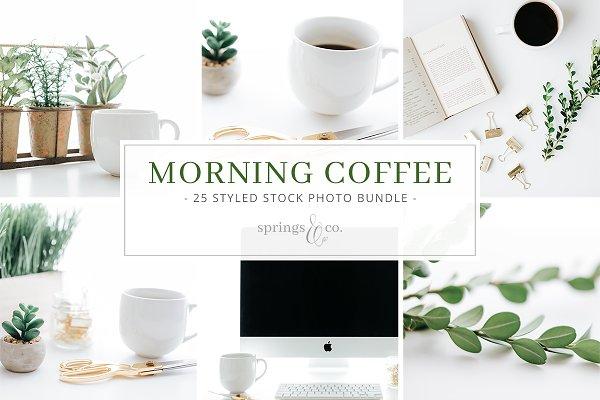 Morning Coffee Stock Photo Bundle
