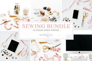 Sewing Styled Stock Photo Bundle