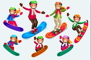 Icons of Isolated Snowboard Jump
