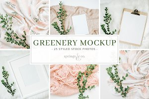 Greenery Mockup Stock Photo Bundle