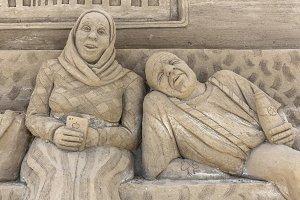 Sand sculptures exhibition