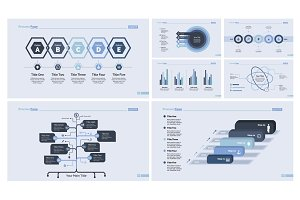 Business infographic design set