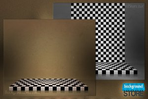 Chessboard Stage Background