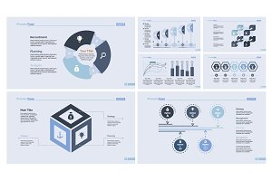 Business planning design template set