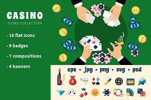 Casino Flat Set