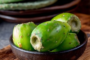 Tuna cactus fruit, Prickly pear, cactus pear. Latin American fruit tuna