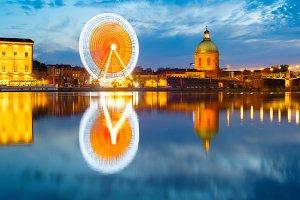 Landmarks of Toulouse, France