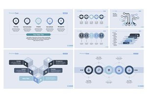 Slide template design set