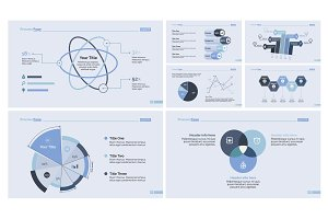 Statistic report design template set