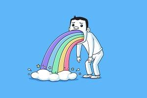 Rainbow Puke - PREMIUM ITEM