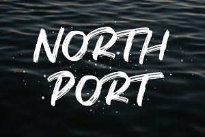 North Port | All Caps Brush Font
