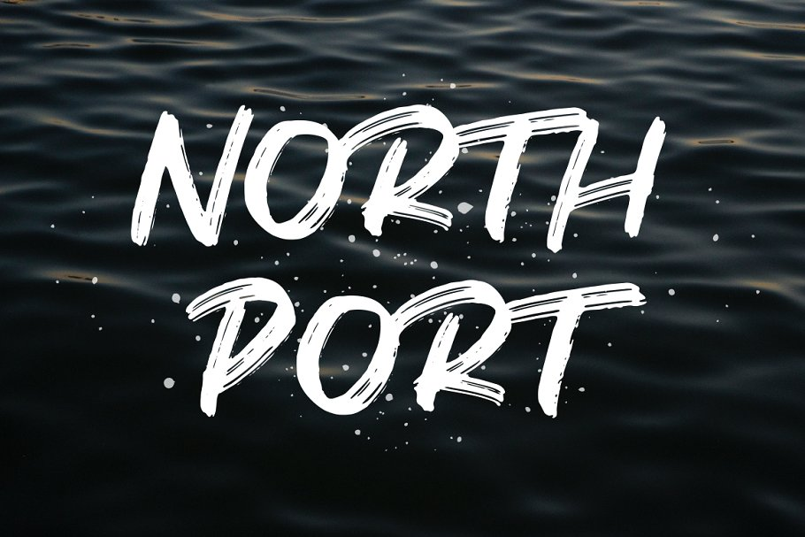 North Port | All Caps Brush Font