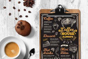 FREE! Trifold + Coffee Menu Template