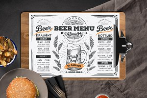 Beer Menu Template