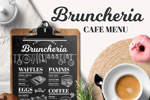 Brunch menu, restaurant template
