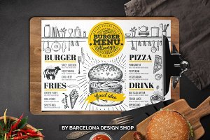 FREE! Trifold + Burger Menu Template