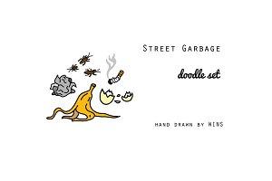 Street Garbage Doodle Set