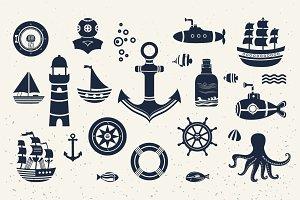 Vintage marine elements