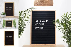 Felt board mock up bundle by nsd
