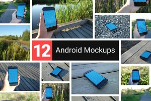 12 Realistic Android Mockups
