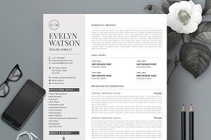 Resume Template 4 Pages | Gloom