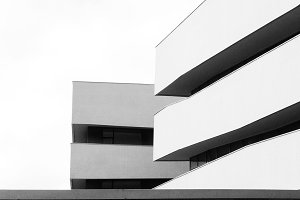 Architecture II, B&W,