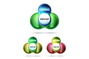 Glass glossy shiny circle round shape, matte realistic material bubble concept with reflection