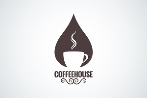 Coffee cup drop logo vector