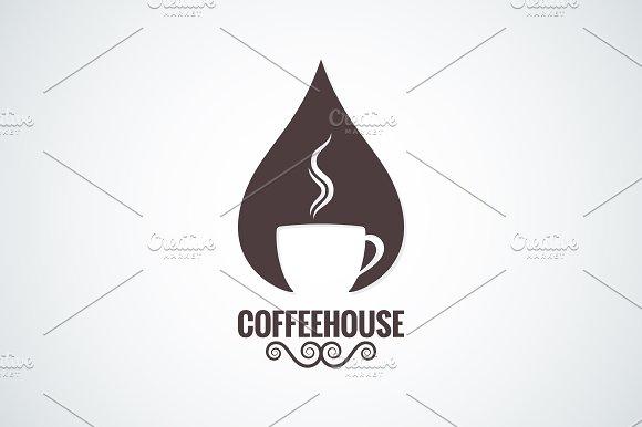 Coffee cup drop logo vector