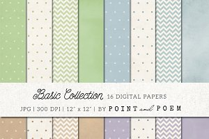 Polka Dots & Chevron digital paper