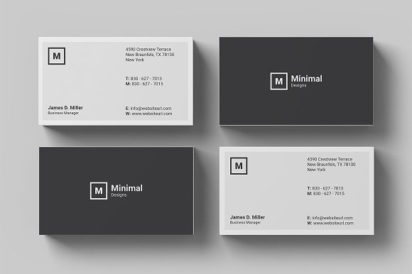 Minimal Business Card-Graphicriver中文最全的素材分享平台