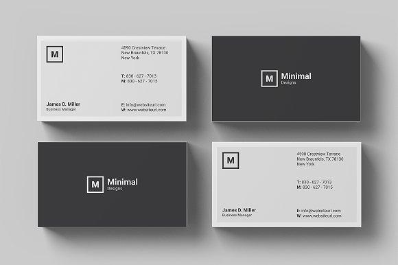 Minimal Business Card-Graphicriver中文最全的素材分享平台