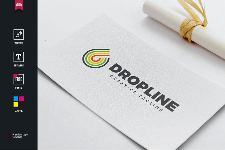 Drop Line Logo in Logo Templates - product preview 8
