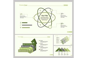 Four Statistics Slide Templates Set