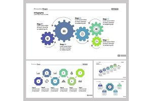 Four Teamwork Slide Templates Set